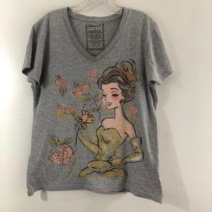 Disney Store Organic Cotton V-Neck Tee Shirt Sz L